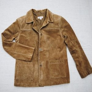 Denim&Co Brown Leather Jacket Size S